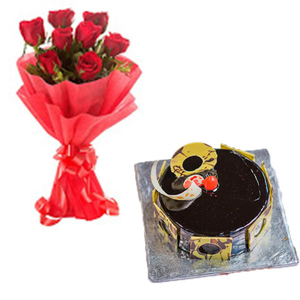 1.Red roses and chocolate truffle(soul mates)-