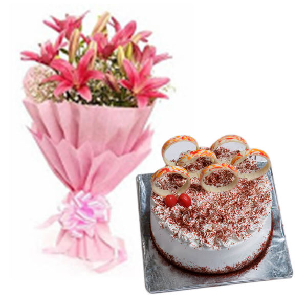 6.Lilies and red velvet(velvety touch)-