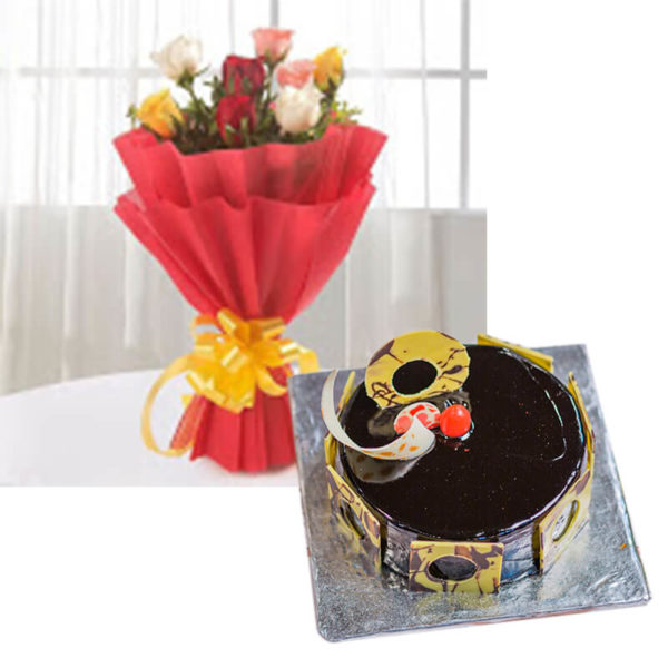 7.Mix roses and chocolate truffle